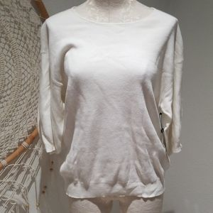 NWT Laundry by Shelli Segal white sweater XL